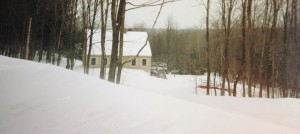 Our former home in western Massachusetts during a snow storm.