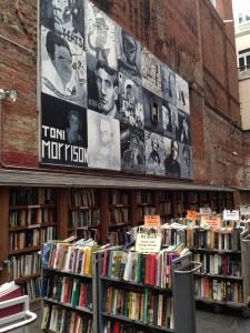 Mural outside Brattle Book Shop