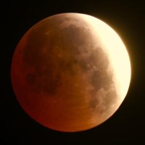 Photo of April 4 eclipse courtesy of astronomer Gary Zientara