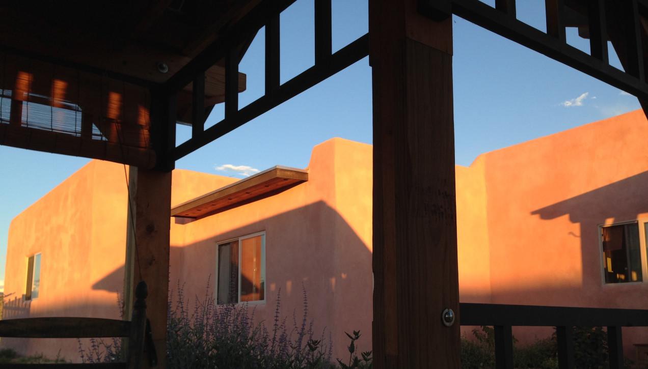 Sunlight on Casa Rosa